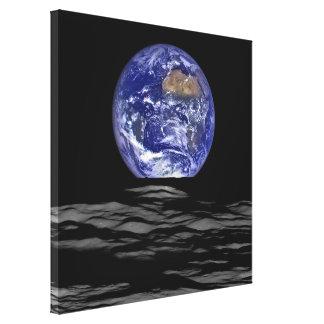 Lienzo Earthrise del Farside de la luna