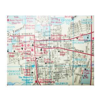 Lienzo EASTON, mapa del vintage del MD