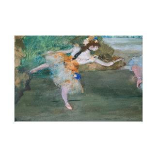 Lienzo Edgar Degas - bailarín en el escenario