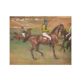 Lienzo Edgar Degas - caballos de raza