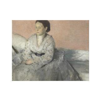 Lienzo Edgar Degas - retrato de señora Rene de Gas