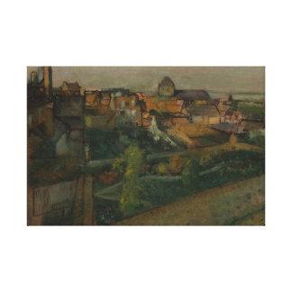 Lienzo Edgar Degas - vista del Saint-Valery-sur-Somme