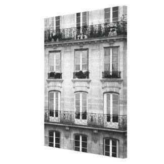 Lienzo Edificio blanco y negro del vintage del viaje el |