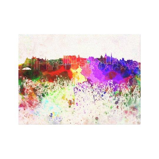 Lienzo Edinburgh skyline in watercolor background