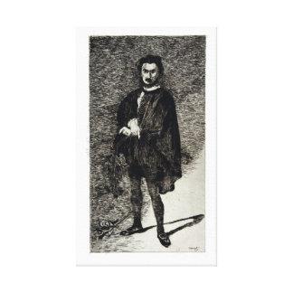 Lienzo Édouard Manet el actor trágico Rouvière como