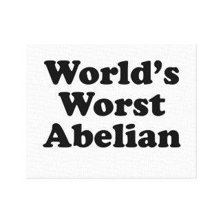 Lienzo El abeliano peor del mundo