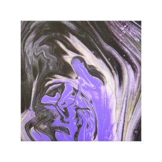 Lienzo El acrílico púrpura del anillo de árbol negro y de