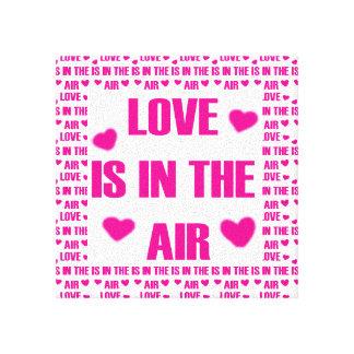 Lienzo El amor está en el aire