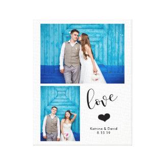 Lienzo El | banal moderno boda de dos fotos