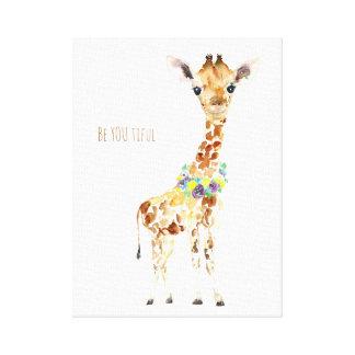 Lienzo ¡El bebé que es la jirafa sea USTED ful del ti!