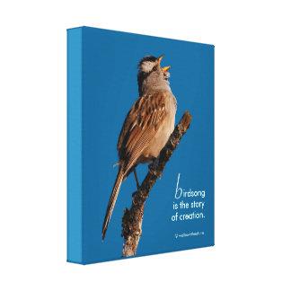 """Lienzo El """"Birdsong inspirado es la historia de la"""