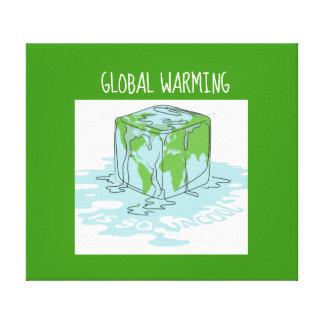 Lienzo El calentamiento del planeta es tan nada