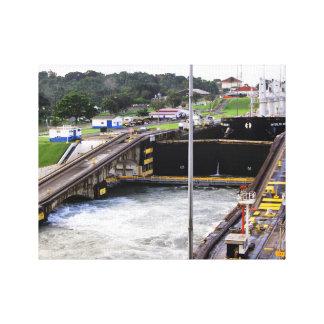 Lienzo El Canal de Panamá, alta fotografía de Def