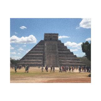 Lienzo EL Castillo - Chichen Itza, lona de México #2