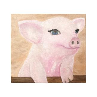 Lienzo El cerdo de Jo en lona