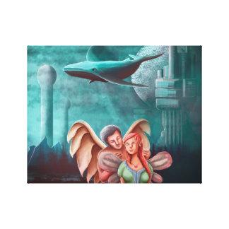 Lienzo El collar y la princesa Fairy del ángel