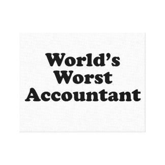 Lienzo El contable peor del mundo