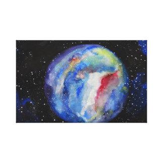 Lienzo El espacio del planeta protagoniza solo