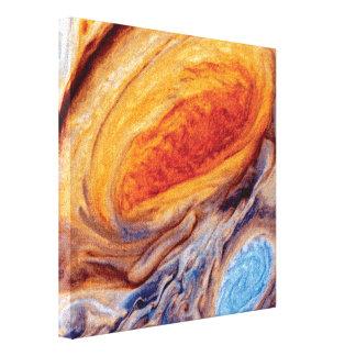 Lienzo El gran punto rojo de Júpiter - foto del viajero