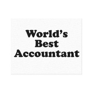 Lienzo El mejor contable del mundo