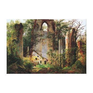 Lienzo El monasterio de Caspar David Friedrich arruina