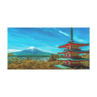 Lienzo El monte Fuji, Japón