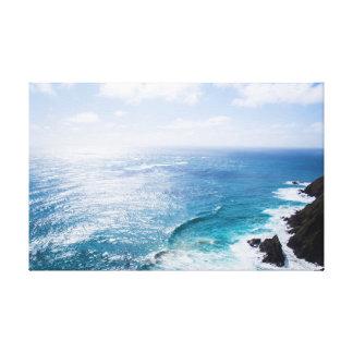 Lienzo El océano el | se nubla la resaca del mar el | del