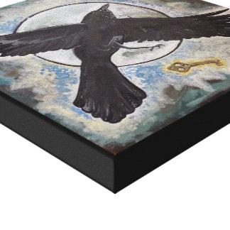 Lienzo El regalo del cuervo