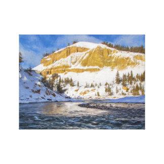 Lienzo El río Yellowstone