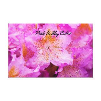 Lienzo El rosa es mi color