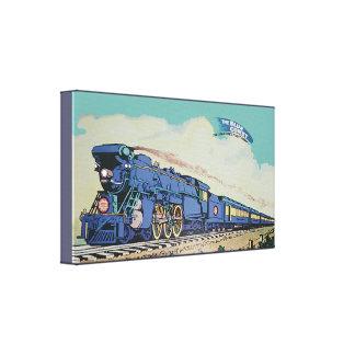 Lienzo El tren azul central del cometa de New Jersey