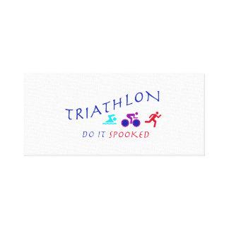 Lienzo El Triathlon, lo hace Spooked