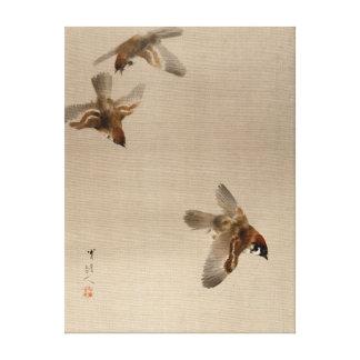 Lienzo El volar de los gorriones de Watanabe Seitei