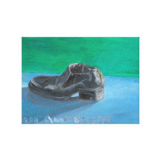 Lienzo El zapato negro del hombre