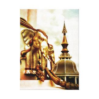 Lienzo Elefantes del templo
