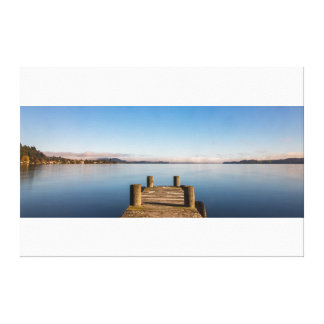 Lienzo Embarcadero en el lago Rotoiti