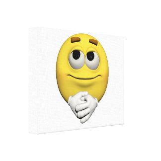 Lienzo emoticon de la alegría
