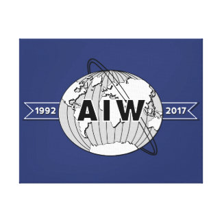 Lienzo En el 25to logotipo del aniversario de la Lona-AIW