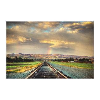 Lienzo En el camino: Mina de oro
