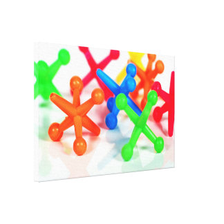 Lienzo enchufes coloridos del juguete