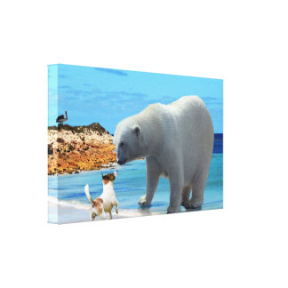 Lienzo Encuentro del oso polar,
