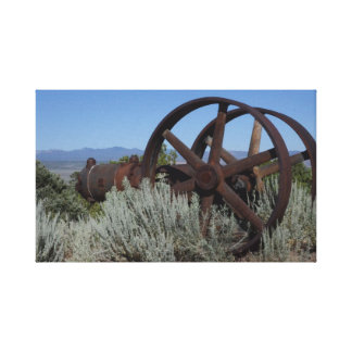 Lienzo Equipo de la mina de Nevada