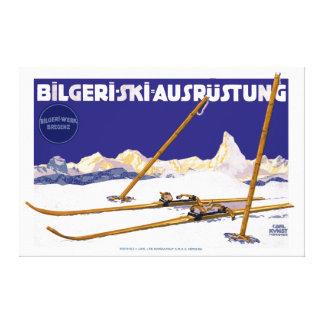 Lienzo Equipo del esquí de Carl Kunst Bilgeri del vintage