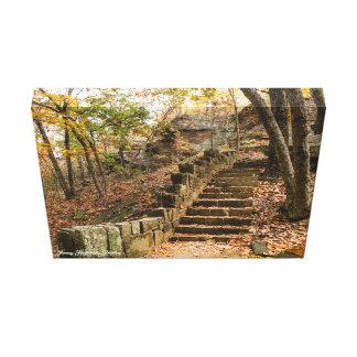 Lienzo Escalera de piedra - Heavener, AUTORIZACIÓN