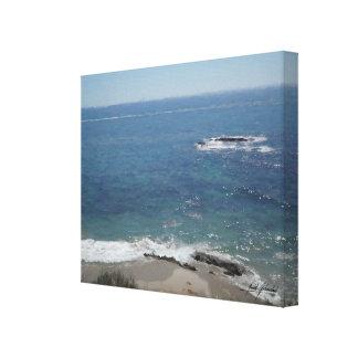 Lienzo Escena de la playa