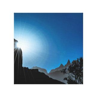 Lienzo Escena del paisaje de la Patagonia, Aysen, Chile