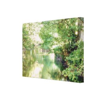 Lienzo Escena del río de Norfolk