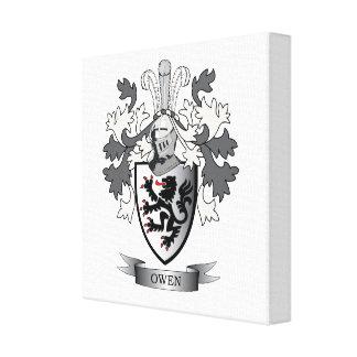 Lienzo Escudo de armas del escudo de la familia de Owen