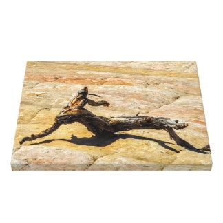 Lienzo Escultura de madera natural