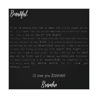 Lienzo Esperanza equivocada - la letra de Brandon a